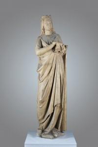 Moulage en plâtre de la Vierge du bras nord du transept de Notre-Dame de Paris, Paris, milieu du 19e siècle © photo Charles-Hilaire Valentin
