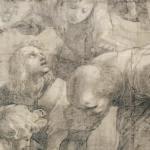 Raffaello (Raffaello Sanzio) Scuola di Atene (particolare) cartone, carboncino e biacca bianca 285 × 804 cm in Ambrosiana dal 1610 © Veneranda Biblioteca Ambrosiana, Mondadori Portfolio