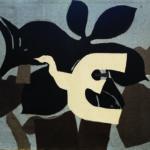Georges Braque, L'Uccello, 1962, arazzo in lana, 200 x 285 cm, Henri Dumontet (tessitura), Collezione dell'Ecole Nationale d'Art Décoratif, Deposito dello Stato francese presso la Città internazionale della tappezzeria, Aubusson Aubusson, Cité internationale de la tapisserie, Photo credit: E. Roger © Georges Braque by SIAE 2019.